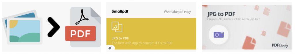 Online tools voor JPG to PDF maken converteren simpel